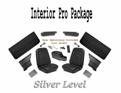 1967 - 1969  - Door Panels - TMI Products - 1967 Camaro Interior Kit Silver Pro Package (Black)
