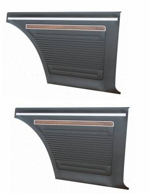 Seats & Upholstery  - Nova Upholstery - Distinctive Industries - 1971 - 72 Nova Rear Quarter Panel Set, Your Choice of Color
