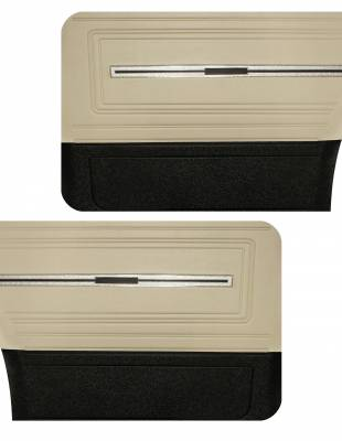 Chevelle/El Camino - Door & Quarter Panels - Distinctive Industries - 1966 Chevelle/El Camino Pre-Assembled Door Panels - Two Tone