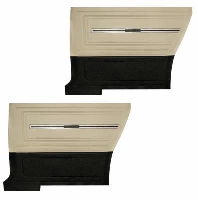 Chevelle/El Camino - Door & Quarter Panels - Distinctive Industries - 1966 Chevelle Pre-Assembled Rear Quarter Panels - Two Tone