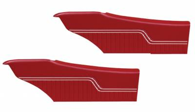 Door & Quarter Panels - Factory Style Replacments - Distinctive Industries - 1970 -72 Chevelle Pre-Assembled Rear Quarter Panels
