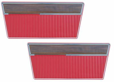 Distinctive Industries - 1968 - 77 Ford Bronco Door Panel Set - with Woodgrain Trim