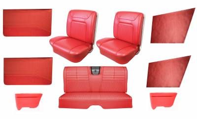 Impala, Bel Air, Caprice Upholstery - Interior Packages - Distinctive Industries - 1964 Impala SS Bucket Seat Upholstery, Carpet & Panel Package 4