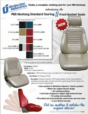 Distinctive Industries - 1965 Mustang Standard Touring II Front Bucket Seats - Image 4