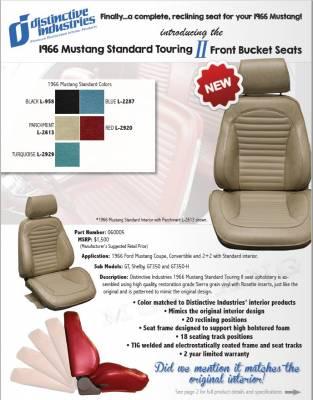 Distinctive Industries - 1966 Mustang Standard Touring II Front Bucket Seats - Image 4