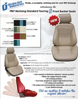 Distinctive Industries - 1967 Mustang Standard Touring II Front Bucket Seats - Image 4