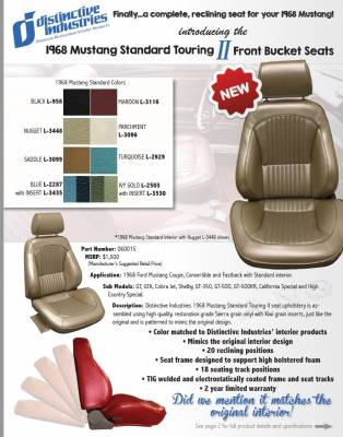 Distinctive Industries - 1968 Mustang Standard Touring II Front Bucket Seats - Image 4