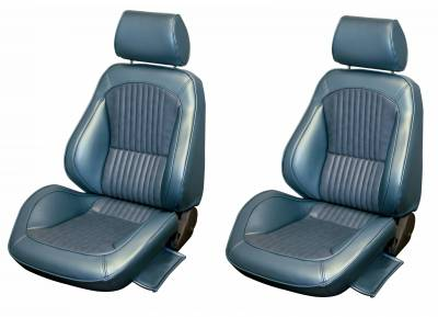 Mustang - Complete Ready-to-install Seats - Distinctive Industries - 1969 Mustang Standard Touring II Front Bucket Seats