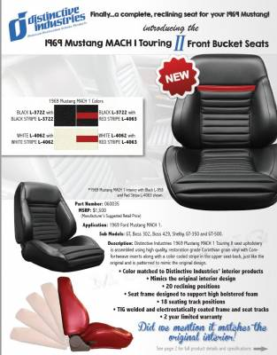 Distinctive Industries - 1969 Mustang MACH I Touring II Front Bucket Seats - Image 7