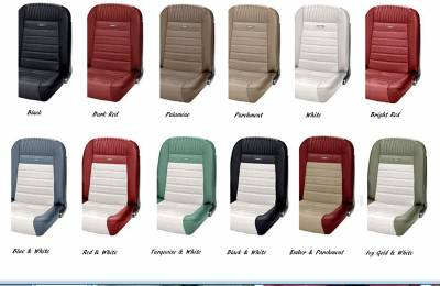 TMI Products - 1964 - 66 Mustang OEM PONY Style Deluxe Sport II Pro Series Seats by TMI - Image 2