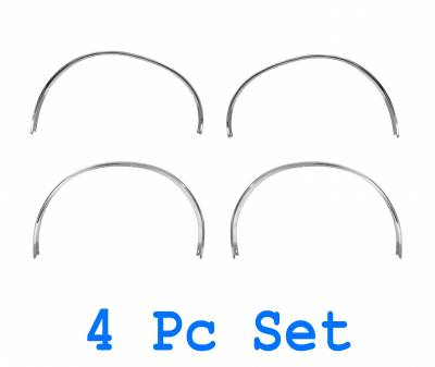 Dynacorn - 4 Pc 71-73 Mustang Wheel Opening Molding Set (Chrome)