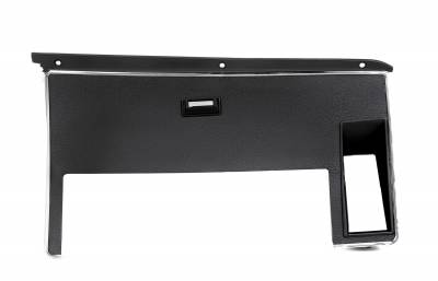 Interior Accessories - Dash Panels & Bezels - ACP - 72-73 Mustang Dash Trim w/ warning light hole, Black