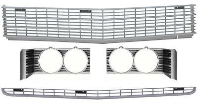 OER - 881345 - 1969 Impala / Full Size Front Grills with Headlamp Bezels Set