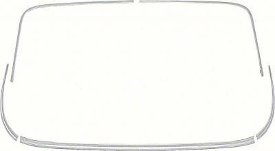 Trim and Moldings - Impala Trim and Moldings - OER - K123 - 1962-64 Impala / Impala SS 2 Door Hardtop Back Glass Molding Set