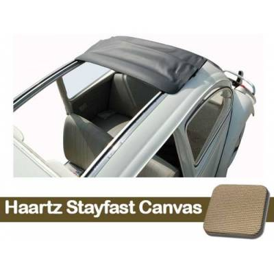 Volkswagen Upholstery - Convertible Tops - TMI Products - 1957 - 1963 VW Bug Sliding Ragtop Cover, Stayfast Canvas
