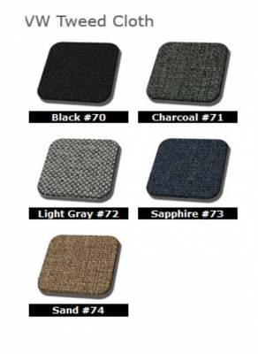 TMI Products - 1956 - 1964 Volkswagen Bug Sedan Authentic Style Door Panels - Full Set in Tweed - Image 2