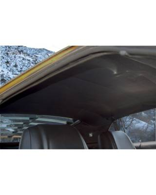 Mustang - Headliners, Visors & Sailpanels - TMI Products - 1964-66 Coupe 1-Piece Headliner, Black Sierra Grain Vinyl