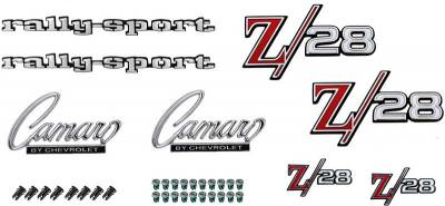 Badges and Emblems - Camaro Emblem Kits - OER - *R1090 - 1969 Camaro 302 Z28 with RS Option Emblem Kit