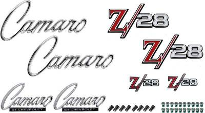 Badges and Emblems - Camaro Emblem Kits - OER - *R1089 - 1969 Camaro Z28 without RS Option Emblem Kit