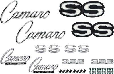 Exterior - OER - *R1088 - 1969 Camaro SS 396 without RS Option Emblem Kit
