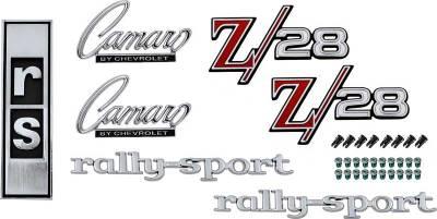 Badges and Emblems - Camaro Emblem Kits - OER - *R1078 - 1968 Camaro Z28 with RS Option Emblem Kit