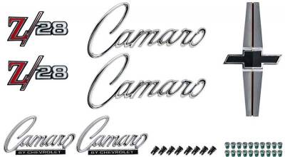 Badges and Emblems - Camaro Emblem Kits - OER - *R1077 - 1968 Camaro Z28 without RS Option Emblem Kit