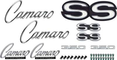 OER - *R1073 - 1968 Camaro SS 350 without RS Option Emblem Kit