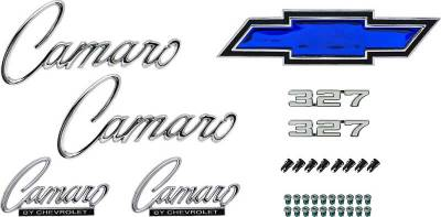 Badges and Emblems - Camaro Emblem Kits - OER - *R1080 - 1969 Camaro Standard with 327 Emblem Kit