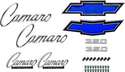 Badges and Emblems - Camaro Emblem Kits - OER - *R1081 - 1969 Camaro Standard with 350 Emblem Kit