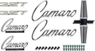 Badges and Emblems - Camaro Emblem Kits - OER - *R1071 - 1968 Camaro Standard 327 Emblem Kit