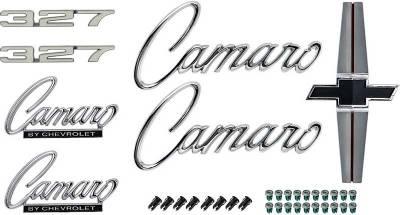 Badges and Emblems - Camaro Emblem Kits - OER - *R1071 - 1968 Camaro Standard 327 Emblem Kit