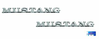 Exterior - Scott Drake - 1965 - 1966 Mustang Fender Emblem - PAIR for Both Sides of Car - Official Ford