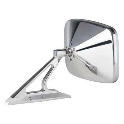 Exterior - Mirrors - OER - BR1012 - 1960-74 GM Rectangular Door Mirror - Brushed