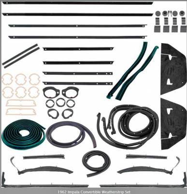 Weatherstripping - Impala Weatherstripping - OER - *WK212 - 1962 Impala Convertible Weatherstrip Set