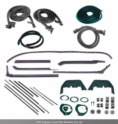 Weatherstripping - Impala Weatherstripping - OER - *WK214 - 1965 Impala Convertible Weatherstrip Set