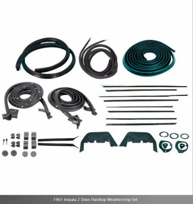 Weatherstripping - Impala Weatherstripping - OER - *WK213 - 1965 Impala 2 Door Hardtop Weatherstrip Set