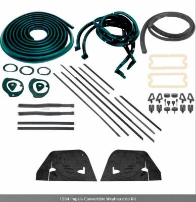 Weatherstripping - Impala Weatherstripping - OER - *WK220 - 1964 Impala Convertible Weatherstrip Kit