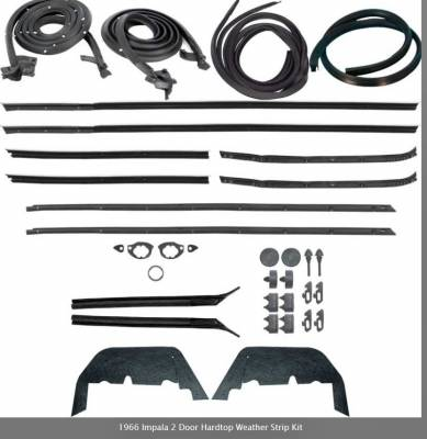 Weatherstripping - Impala Weatherstripping - OER - *WK221 - 1966 Impala 2 Door Hardtop Weather Strip Kit