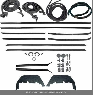 OER - *WK221 - 1966 Impala 2 Door Hardtop Weather Strip Kit