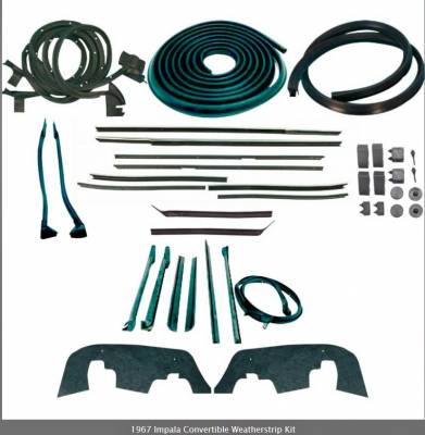 Weatherstripping - Impala Weatherstripping - OER - *WK225 - 1967 Impala Convertible Weatherstrip Kit