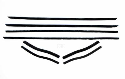 ACP - 1967-68 Mustang-Coupe-Convertible-Window-Felt-Weatherstrip-Kit-8-piece-kit