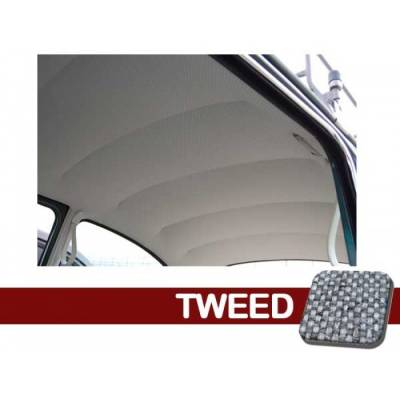 TMI Products - 1947 - 67 Volkswagen Bug Sedan Original Style Headliner, W/Post Mat. - Velour or Tweed - Image 1