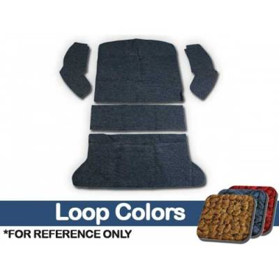 TMI Products - Volkswagen Front and Rear Carpet Kit, w/Footrest, w/o Heater Grommets, 1969 - 72, 80/20 Loop - Image 2