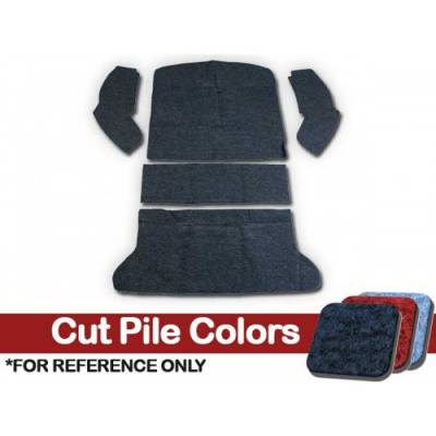 TMI Products - Volkswagen Front and Rear Carpet Kit, w/Footrest, w/o Heater Grommets, 1969 - 72, Cutpile - Image 2