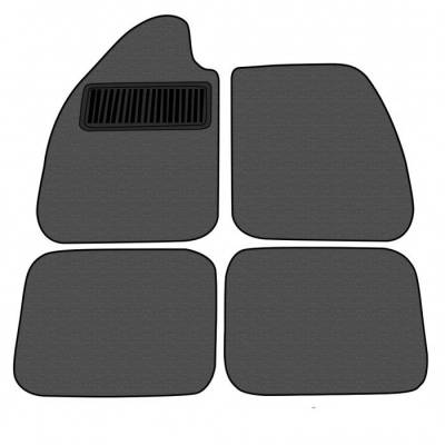 Carpet Kits - Volkswagen Carpet Kits - TMI Products - Volkswagen 4-Pc Mat Set, w/Footrest, Loop, 1954 - 78 Sedan or Vert