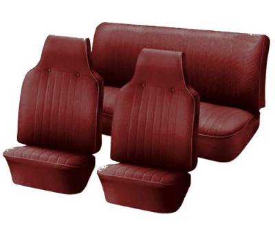 TMI Products - Front & Rear Vinyl Seat Upholstery, 1961-74 VW Type III, Notchback & Fastback, W/Armrest - Image 2