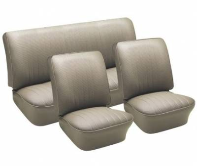 TMI Products - Front & Rear Vinyl Seat Upholstery, 1961-74 VW Type III, Notchback & Fastback, W/Armrest