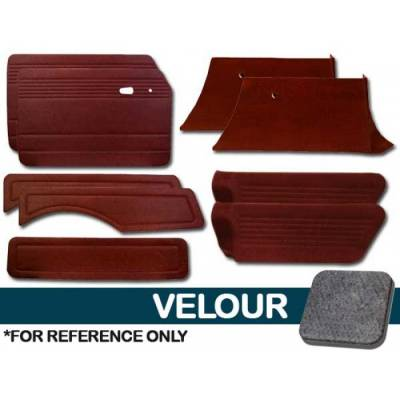 TMI Products - Full Panel Set for 1968 - 74 Type III Squareback, Velour, With or Without Pockets - 9 pc. Set