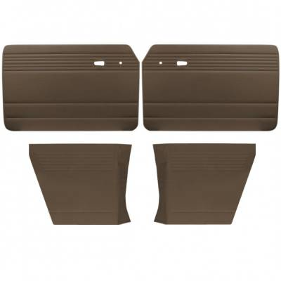 TMI Products - Door Panel Set for 1961 - 74 Type III Notchback, Velour, With or Without Pockets - 4 pc. Set - Image 2