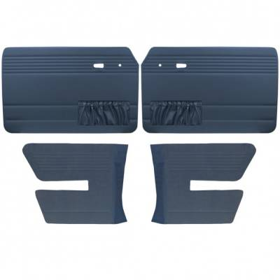 TMI Products - Door Panel Set for 1968 - 72 Type III Fastback, Vinyl, With or Without Pockets - 4 pc. Set - Image 1
